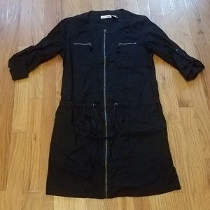 DKNY Jeans Zippered-Front Shirtdress Size P